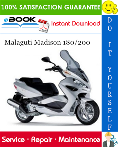 Thumbnail ☆☆ Best ☆☆ Malaguti Madison 180/200 Service Repair Manual
