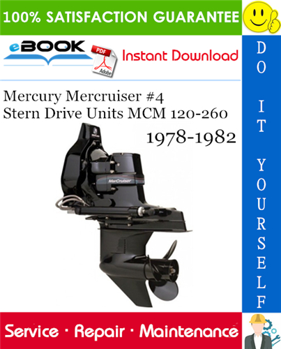 Thumbnail ☆☆ Best ☆☆ Mercury Mercruiser #4 Stern Drive Units MCM 120-260 Service Repair Manual 1978-1982 Download