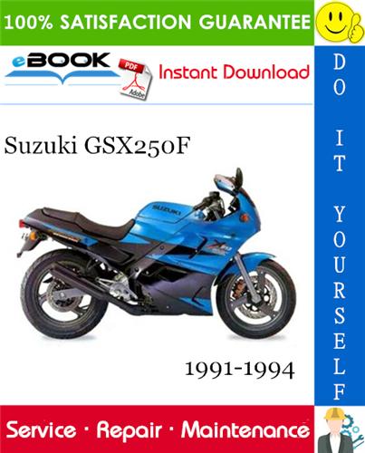 Thumbnail ☆☆ Best ☆☆ Suzuki GSX250F Motorcycle Service Repair Manual 1991-1994 Download