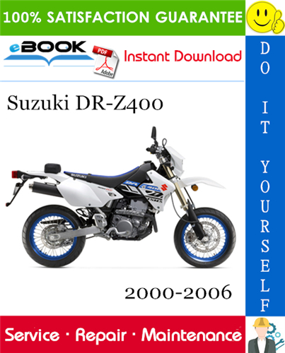Thumbnail ☆☆ Best ☆☆ Suzuki DR-Z400 Motorcycle Service Repair Manual 2000-2006 Download