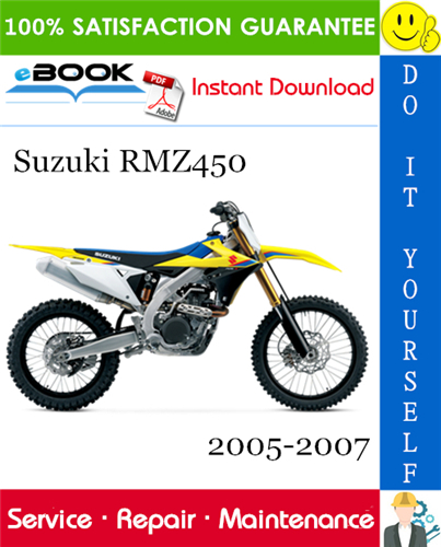 Thumbnail ☆☆ Best ☆☆ Suzuki RMZ450 Motorcycle Service Repair Manual 2005-2007 Download