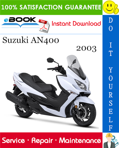 Thumbnail ☆☆ Best ☆☆ 2003 Suzuki AN400 Motorcycle Service Repair Manual