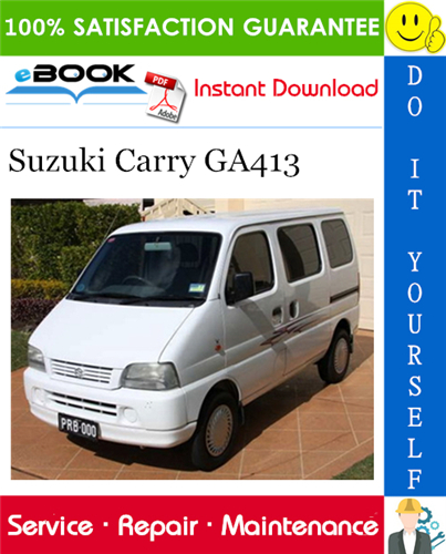 Thumbnail ☆☆ Best ☆☆ Suzuki Carry GA413 Service Repair Manual