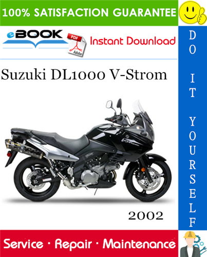 Thumbnail ☆☆ Best ☆☆ 2002 Suzuki DL1000 V-Strom Motorcycle Service Repair Manual