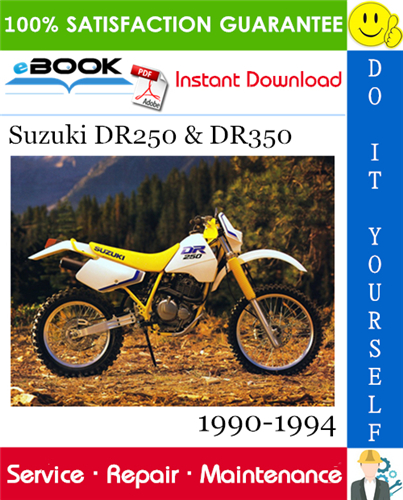 Thumbnail ☆☆ Best ☆☆ Suzuki DR250 & DR350 Motorcycle Service Repair Manual 1990-1994 Download
