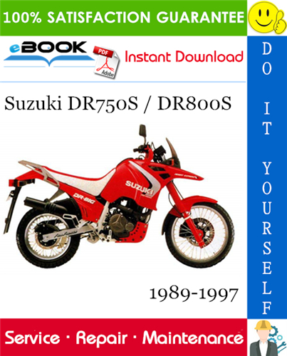 Thumbnail ☆☆ Best ☆☆ Suzuki DR750S / DR800S Motorcycle Service Repair Manual 1989-1997 Download
