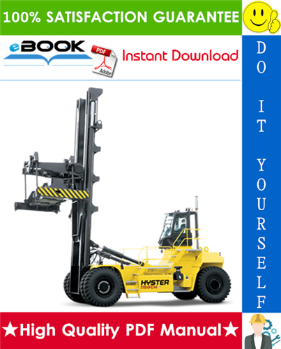 Thumbnail ☆☆ Best ☆☆ Hyster H1050HD-16CH, H1150HD-16CH (H117) Container Handlers Parts Manual