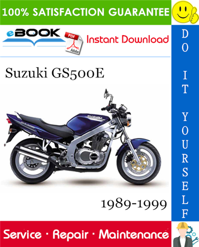 Thumbnail ☆☆ Best ☆☆ Suzuki GS500E Motorcycle Service Repair Manual 1989-1999 Download