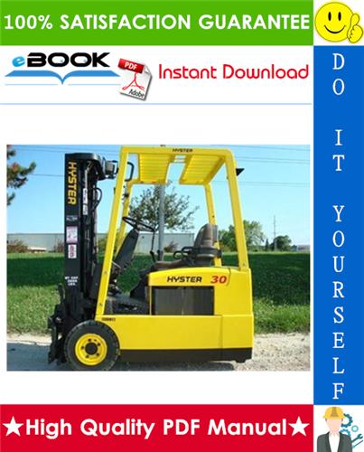 Thumbnail ☆☆ Best ☆☆ Hyster J30XMT2, J35XMT2, J40XMT2 (H160) 3-Wheel Electric Forklift Trucks Parts Manual