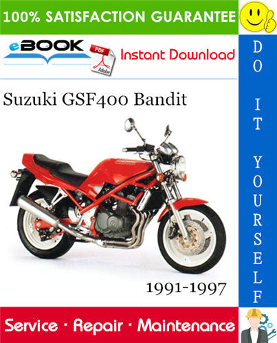 Thumbnail ☆☆ Best ☆☆ Suzuki GSF400 Bandit Motorcycle Service Repair Manual 1991-1997 Download
