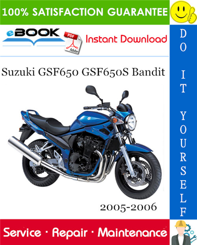 Thumbnail ☆☆ Best ☆☆ Suzuki GSF650 GSF650S Bandit Motorcycle Service Repair Manual 2005-2006 Download