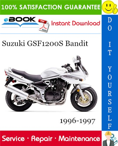 Thumbnail ☆☆ Best ☆☆ Suzuki GSF1200S Bandit Motorcycle Service Repair Manual 1996-1997 Download