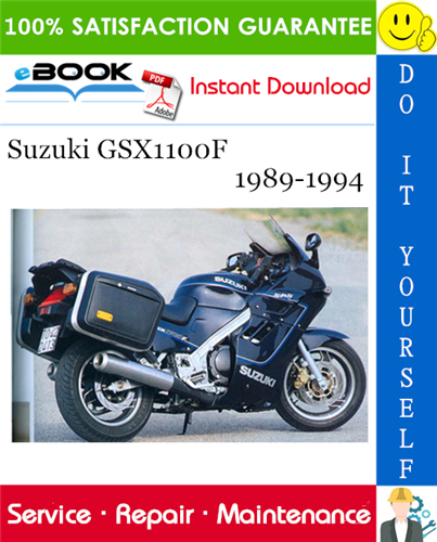 Thumbnail ☆☆ Best ☆☆ Suzuki GSX1100F Motorcycle Service Repair Manual 1989-1994 Download