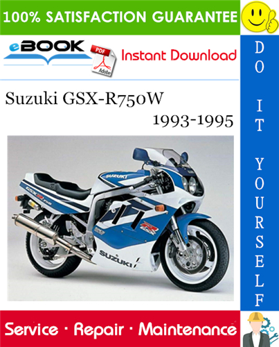 Thumbnail ☆☆ Best ☆☆ Suzuki GSX-R750W Motorcycle Service Repair Manual 1993-1995 Download