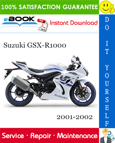 Thumbnail ☆☆ Best ☆☆ Suzuki GSX-R1000 Motorcycle Service Repair Manual 2001-2002 Download