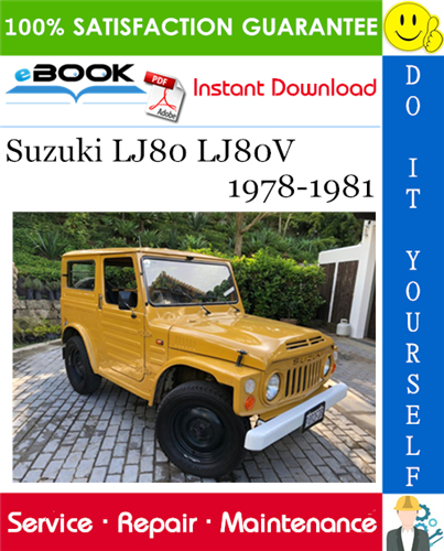 Thumbnail ☆☆ Best ☆☆ Suzuki LJ80 LJ80V Service Repair Manual 1978-1981 Download