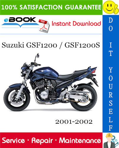 Thumbnail ☆☆ Best ☆☆ Suzuki GSF1200 / GSF1200S Motorcycle Service Repair Manual 2001-2002 Download