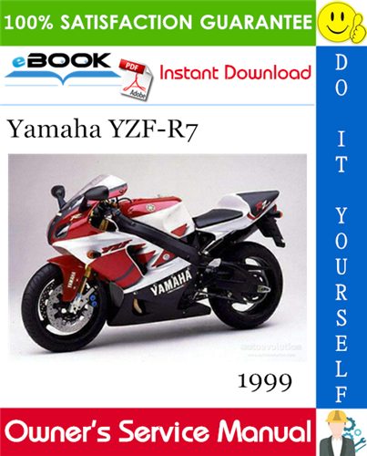 Thumbnail ☆☆ Best ☆☆ 1999 Yamaha YZF-R7 Motorcycle Owners Service Manual