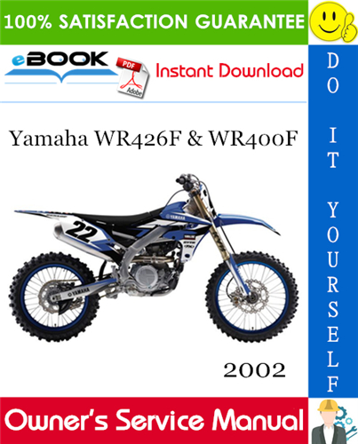 Thumbnail 2002 Yamaha WR426F & WR400F Motorcycle Owner's Service Manual