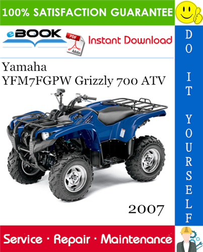 Thumbnail ☆☆ Best ☆☆ 2007 Yamaha YFM7FGPW Grizzly 700 ATV Service Repair Manual