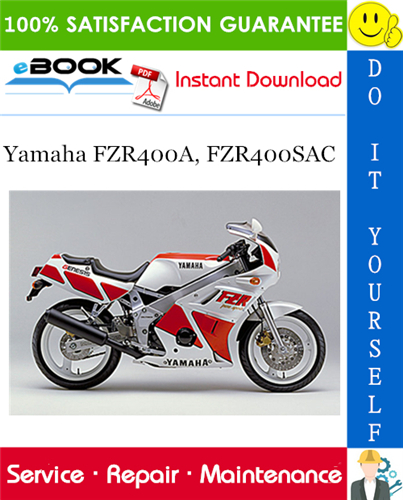 Thumbnail ☆☆ Best ☆☆ Yamaha FZR400A, FZR400SAC Motorcycle Service Repair Manual