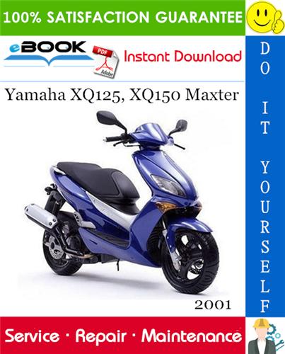 Thumbnail ☆☆ Best ☆☆ 2001 Yamaha XQ125, XQ150 Maxter Scooter Service Repair Manual