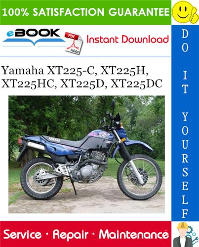 Thumbnail ☆☆ Best ☆☆ Yamaha XT225-C, XT225H, XT225HC, XT225D, XT225DC Motorcycle Service Repair Manual