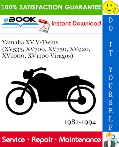 Thumbnail ☆☆ Best ☆☆ Yamaha XV V-Twins (XV535, XV700, XV750, XV920, XV1000, XV1100 Viragos) Motorcycle Service Repair Manual 1981-1994 Download