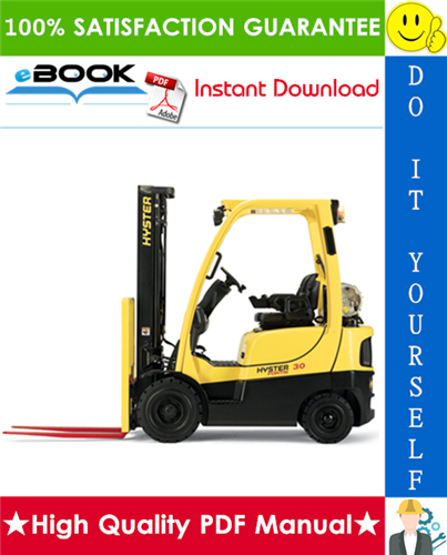Thumbnail ☆☆ Best ☆☆ Hyster H40FT, H50FT, H60FT, H70FT (P177) 4-Wheel Pneumatic Tire Lift Trucks Parts Manual