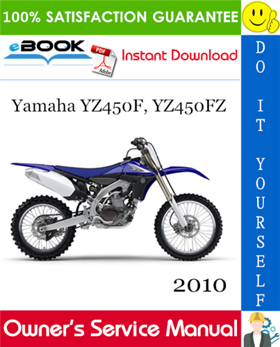 Thumbnail 2010 Yamaha YZ450F, YZ450FZ Motorcycle Owner's Service Manual