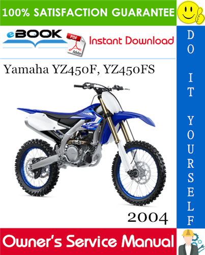 Thumbnail 2004 Yamaha YZ450F, YZ450FS Motorcycle Owner's Service Manual