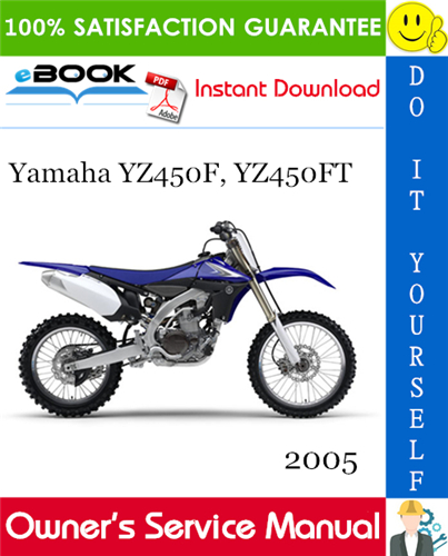 Thumbnail 2005 Yamaha YZ450F, YZ450FT Motorcycle Owner's Service Manual