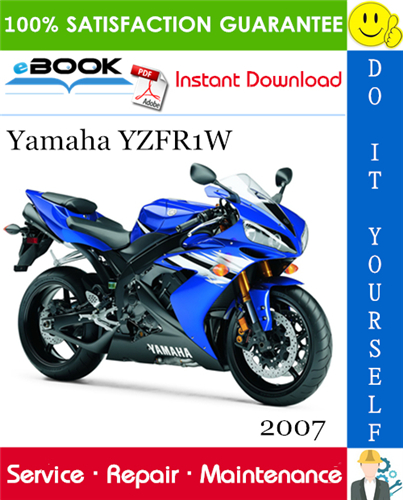 Thumbnail ☆☆ Best ☆☆ 2007 Yamaha YZFR1W Motorcycle Service Repair Manual