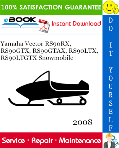 Thumbnail ☆☆ Best ☆☆ 2008 Yamaha Vector RS90RX, RS90GTX, RS90GTAX, RS90LTX, RS90LTGTX Snowmobile Supplementary Service Manual