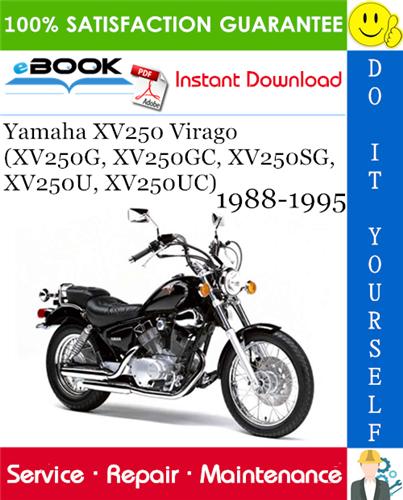 Thumbnail ☆☆ Best ☆☆ Yamaha XV250 Virago (XV250G, XV250GC, XV250SG, XV250U, XV250UC) Motorcycle Service Repair Manual 1988-1995 Download