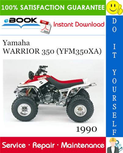 Thumbnail ☆☆ Best ☆☆ 1990 Yamaha WARRIOR 350 (YFM350XA) ATV Service Repair Manual