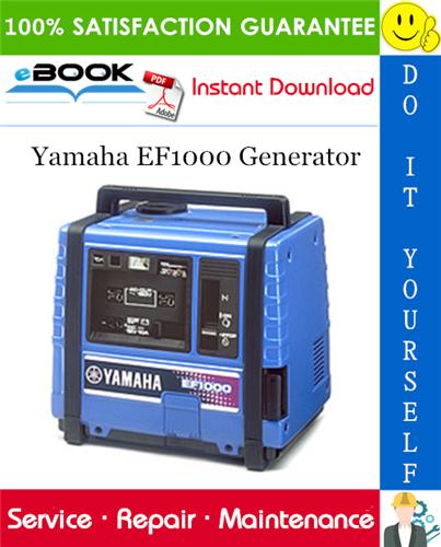 Thumbnail ☆☆ Best ☆☆ Yamaha EF1000 Generator Service Repair Manual