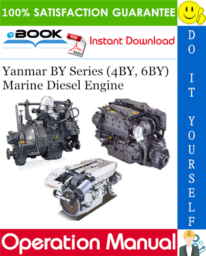Thumbnail ☆☆ Best ☆☆ Yanmar BY Series (4BY, 6BY) Marine Diesel Engine Operation Manual