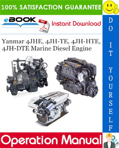 Thumbnail ☆☆ Best ☆☆ Yanmar 4JHE, 4JH-TE, 4JH-HTE, 4JH-DTE Marine Diesel Engine Operation Manual