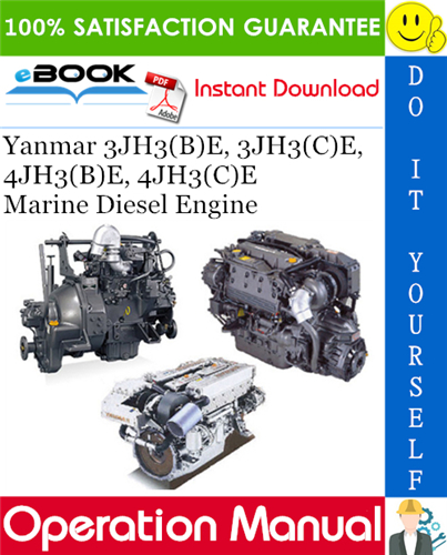 Thumbnail ☆☆ Best ☆☆ Yanmar 3JH3(B)E, 3JH3(C)E, 4JH3(B)E, 4JH3(C)E Marine Diesel Engine Operation Manual