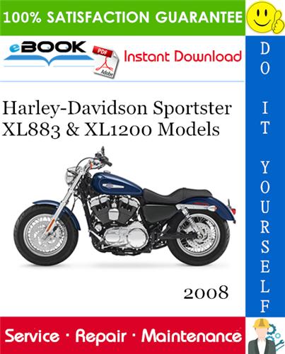Thumbnail ☆☆ Best ☆☆ 2008 Harley-Davidson Sportster XL883 & XL1200 Models (XL883, XL883R, XL883L Low, XL883C Custom, XL1200N Nightster, XL1200L Low, XL1200R Roadster, XL1200C Custom)