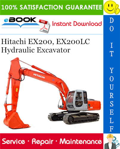 Thumbnail ☆☆ Best ☆☆ Hitachi EX200, EX200LC Hydraulic Excavator Service Repair Manual