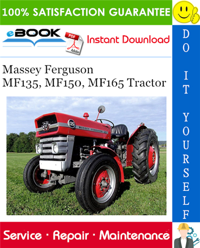 Thumbnail ☆☆ Best ☆☆ Massey Ferguson MF135, MF150, MF165 Tractor Service Repair Manual