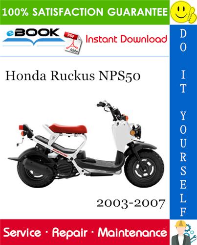 Thumbnail ☆☆ Best ☆☆ Honda Ruckus NPS50 Motorcycle Service Repair Manual 2003-2007 Download