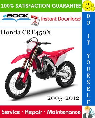 Thumbnail ☆☆ Best ☆☆ Honda CRF450X Motorcycle Service Repair Manual 2005-2012 Download