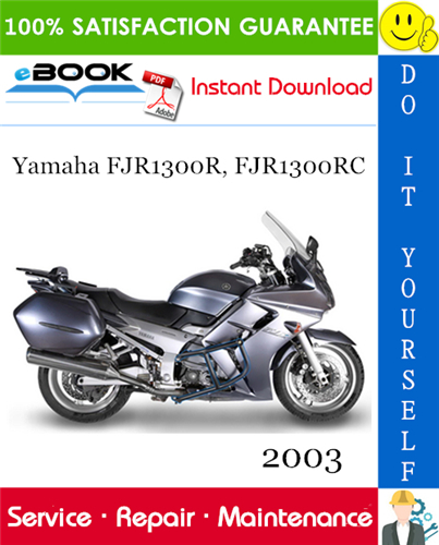 Thumbnail ☆☆ Best ☆☆ 2003 Yamaha FJR1300R, FJR1300RC Motorcycle Service Repair Manual
