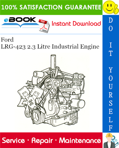 Thumbnail ☆☆ Best ☆☆ Ford LRG-423 2.3 Litre Industrial Engine Service Repair Manual
