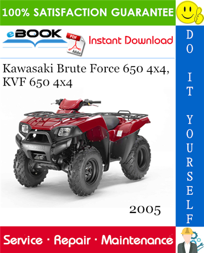 Thumbnail ☆☆ Best ☆☆ 2005 Kawasaki Brute Force 650 4x4, KVF 650 4x4 All Terrain Vehicle Service Repair Manual