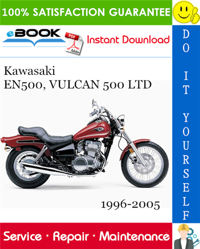 Thumbnail ☆☆ Best ☆☆ Kawasaki EN500, VULCAN 500 LTD Motorcycle Service Repair Manual 1996-2005 Download