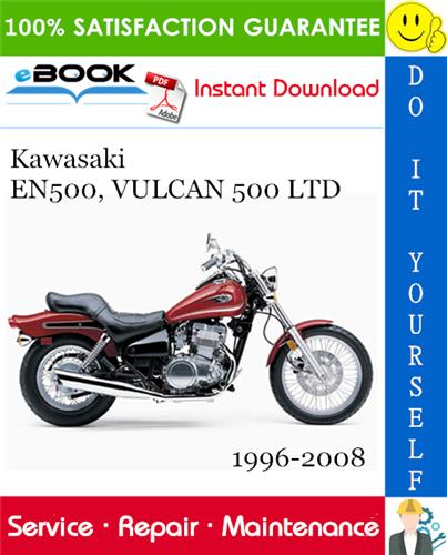Thumbnail ☆☆ Best ☆☆ Kawasaki EN500, VULCAN 500 LTD Motorcycle Service Repair Manual 1996-2008 Download